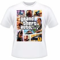 Camiseta Infantil Gta V 5 Video Game Jogo Camisa