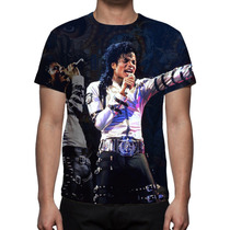 Camisa, Camiseta Michael Jackson 02 - Estampa Total