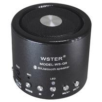 Mini Caixa De Som Bluetooth Speaker Sd Radio Fm Aux Bateria