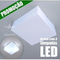 Kit 13x Plafons Led Acrílico 30x30 Luminária Com Lâmpada