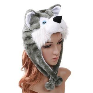 32c668dbd3cf3 Touca De Bichinhos De Pelúcia Husky Siberiano Animais Moda (Feminino ...