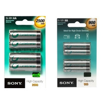 Kit Pilha Sony Recarregavel C/8 Pilhas 4 Aaa E 4 Aa Original