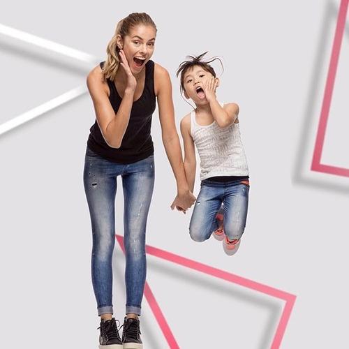 9a2feb93e58e51 Calça Legging Jeans Adulto E Infantil Tal Mãe Tal Filha Live à venda ...