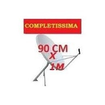 Antena Banda Ku 90 X 1.10 Cm R$ 99.90 Lnb Simples + Cabo