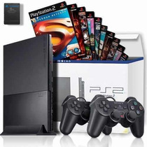 Ps2 Games Console Playstation 2+15 Jogos+memory+2 Controles