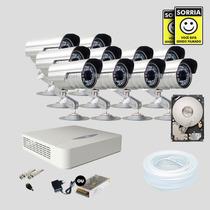 Kit Segurança Dvr Jfl 16 Canais 1 Hd 10 Câmera Sony