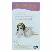 Revolution P/ Filhotes De Cães E Gatos Até 2,5 Kg 3 Pipetas