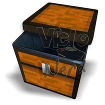 Puff Baú Desmontável Minecraft - Sedex Apartir De R$6,00