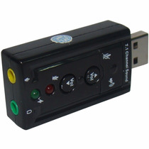 Placa De Som Usb 5.1 Canais 3d Adaptador Pc - Pronta Entrega