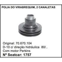 Polia Do Virabrequim D-10 Direção Hidraulica Perkins 2 Canal