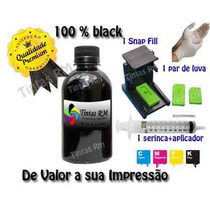 250 Ml Preto C/snap Fill Hp Lexmark Canon Brother Bulk Ink