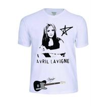 Camisas Camisetas Avril Lavigne Babylook Personalizada Linda