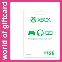 Cartão Xbox Live R$ 25 Microsoft Points Br Entrega Rápida
