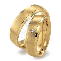 Par Alianças Ouro 18k 0,750 Anatômicas 6mm 10g C/ Diamantes
