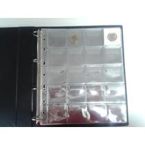 Kit 05 Folhas P/ 20 Moedas/holder Folha Pvc Cristal Especial