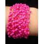 Pulseira Luciane De Crochê E Miçangas Pink Com Botão