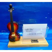 Miniatura De Instrumento Violino Com Porta Canetas