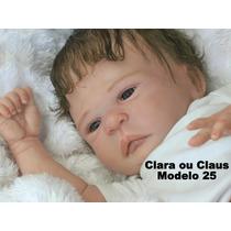 Boneca Bebê Reborn Clara Ou Claus Parece Um Bebe De Verdade
