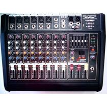 Mesa De Som Amplificada Mx100usb Soundpro Frete Grátis