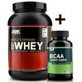 Combo 100% Whey Gold 2lb + Bcaa 1000 - 200 Caps - Optimum