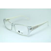 Armação De Óculos Feminino Transparente Acetato Hr 12044 Mj
