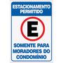 Placa Ps 2m Estacionamento Permitido