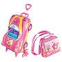 Mochila Infantil C/rodinhas 3d + Lancheira Penelope Charmosa