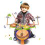 Brinquedo Bateria Infantil Kids Band Mundi Toys C/teclado