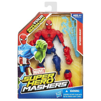Boneco Marvel Super Hero Mashers Battle Spider Man Hasbro