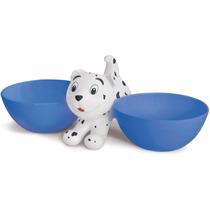 Comedouro Bebedouro Duplo Prático Para Cães E Gatos Pet