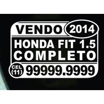 Kit 3 Adesivos Vendo/ Vende-se Veículo/ Carro + Frete Grátis