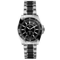 Relógio Guess Gc I29005l3 Preto Prata + Frete 12x Sem Juros