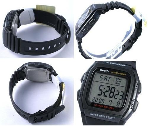b4cc60e00ab Relógio Casio W-96 H-1b Wr-50m Hora Dual Alarme W96 12 24h P ...