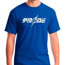 Camiseta Pride - Azul Emblema Luta Mma Jiu Jitsu Muay Thai