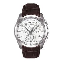 Relógio Tissot Couturier Branco Pulseira De Couro 12 X S/jur