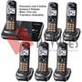 Telefone Sem Fio 2 Linhas Com 5 Ramais Panasonic Kx-tg9322