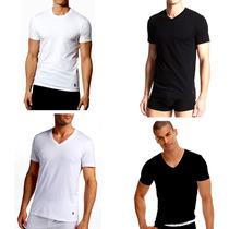 Camiseta Básica Ralph Lauren Empório Armani - Branca / Preta