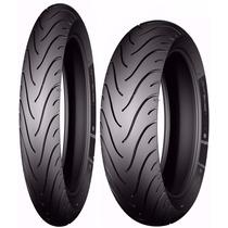 Par De Pneu 60/100-17 + 80/100-14 Michelin Pilot Street Biz