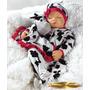 Moon Boneca Dormindo Bebê Tipo Reborn C/ Enxoval Acessórios