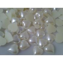 200 - Meia Perola Coração 15mm
