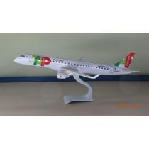Avião Embraer 190 Tap Portugal Exprss 23cm Miniatura Maquete