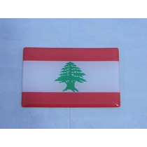 Adesivo Resinado Bandeira Libano