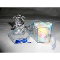 Caixinha Acrilico 4x4 Cristal Transparente Sextavado 250unid