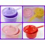 10 Mini Panelinhas De Plástico Coloridas Para Brigadeiro