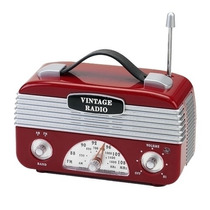 Rádio Vintage Am / Fm Vermelho