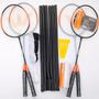 Badminton Vollo - 4 Raquetes, 3 Petecas, Rede E Suporte