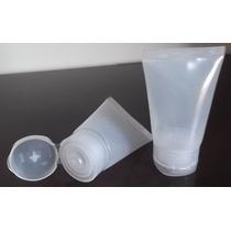 30 Bisnagas De Plastico 30ml Tampa Flip Top Transparente