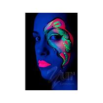 Kit Tinta Corporal Fluorescente 6 Cores - Neon Facial