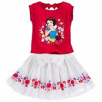 Conjunto Branca De Neve Saia Rodada Blusa Disney Store 5/6
