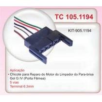Chicote Motor Limpador Parabrisa Femea 5 Vias Gol G4 #1194